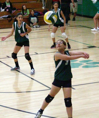 Middle School Girls Volleyball Game