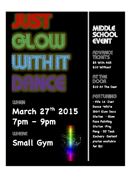 Just Glow With It- A Middle School Dance